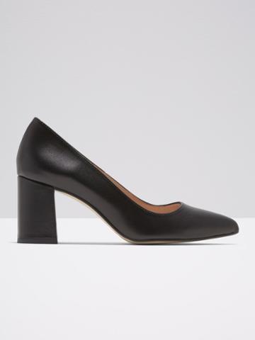 Frank + Oak The Gallery Block Heel In Black Leather