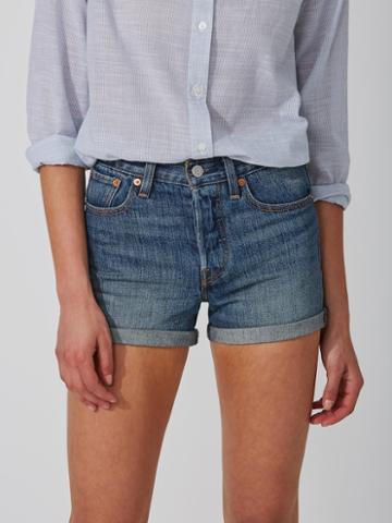 Frank + Oak Levi's Wedgie Fit Shorts In Indigo