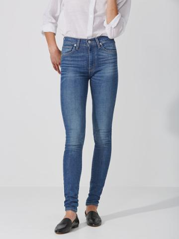 Frank + Oak Levi's Mile High Super Skinny Jean In Light Blue