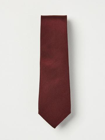 Frank + Oak Grosgrain Silk Tie In Wine
