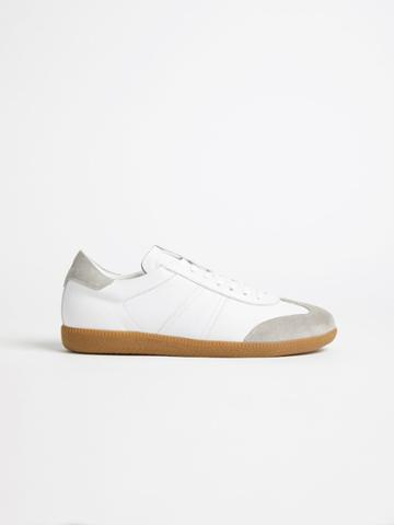 Frank + Oak The Platz German Army Trainer In White