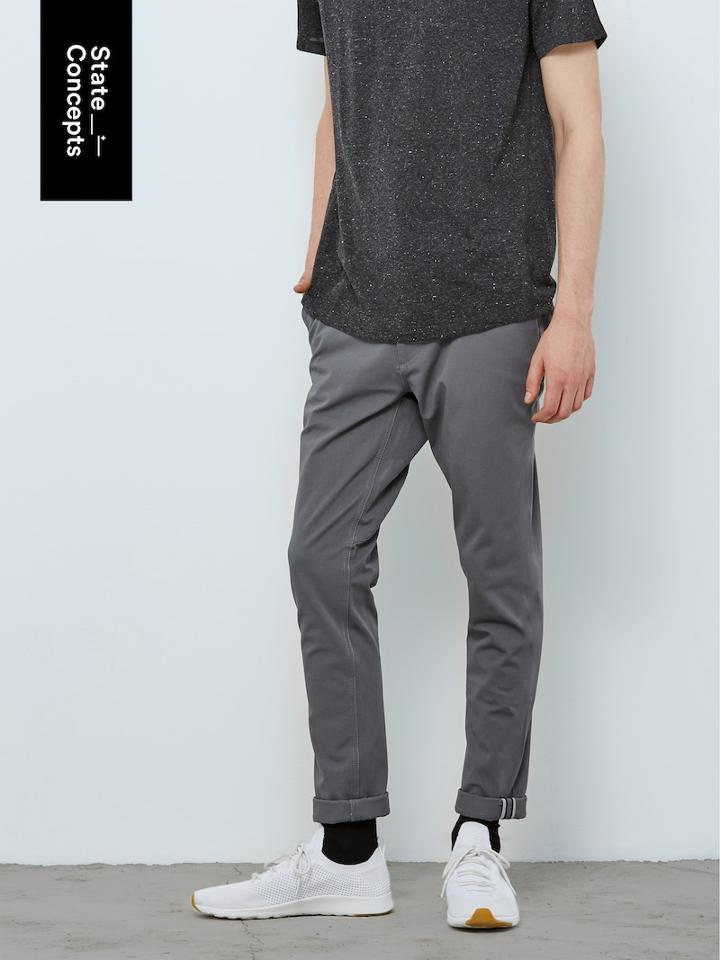 Frank + Oak State Concepts Pace Commuter Bike Pant In Dark Grey