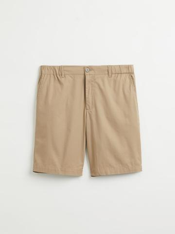 Frank + Oak Drawcord Cotton Shorts In Dune