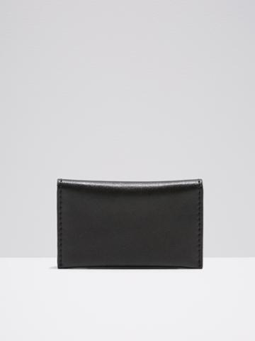 Frank + Oak Leather Bifold Wallet In Black