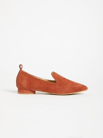 Frank + Oak The District Small-heeled Suede Loafer - Brick