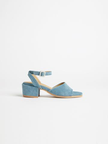 Frank + Oak The Medina Heel Sandal In Dark Teal