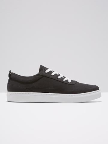 Frank + Oak Canvas Shoe In Black