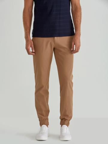 Frank + Oak Woven Cotton Twill Jogger In Toasted Coconut