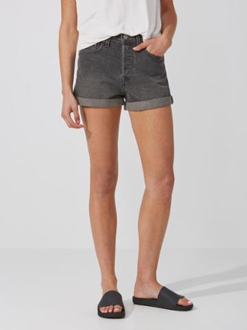 Frank + Oak Levi's Wedgie Fit Shorts In Washed Black