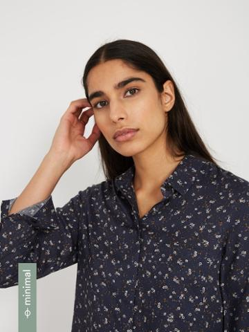Frank + Oak The Tencel Everyday Blouse - Floral Navy