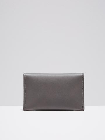 Frank + Oak Leather Bifold Wallet In Grey