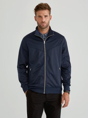 Frank + Oak Full Zip Track Jacket In Dress Blue