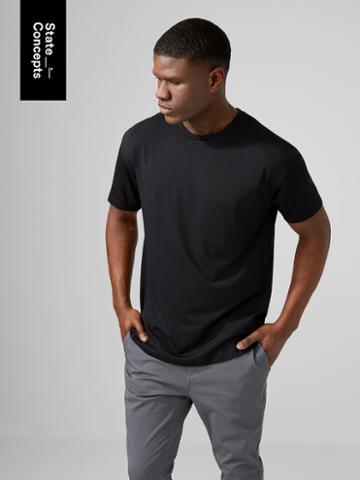 Frank + Oak Sc Drirelease Loose Fit T-shirt In True Black