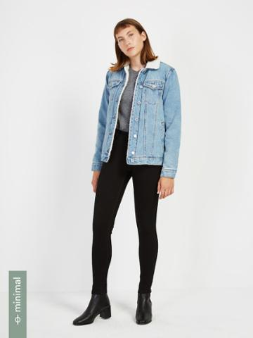 Frank + Oak The Debbie High-waisted Hydro-less Skinny Jean In Jet Black