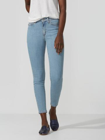 Frank + Oak The Debbie High-waisted Skinny Jean In Light Indigo