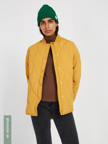 Frank + Oak Skylar Packable Bomber With Recycled Thinsulate In Yellow