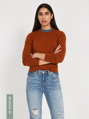 Frank + Oak Organic-recycled-cotton-blend Crewneck Sweater - Ginger
