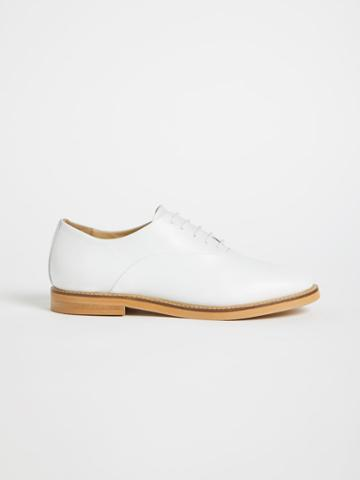 Frank + Oak The Market Leather Oxford Shoe - White