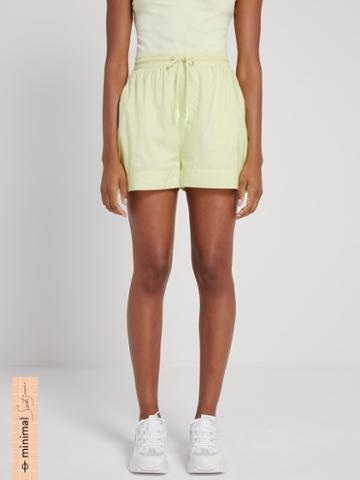Frank + Oak La Coupe: Baggy High-waisted Short In Pastel Green