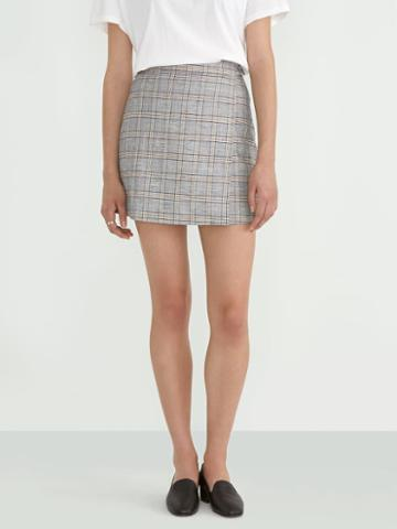 Frank + Oak Cotton-modal Wrap Skirt In Prince Of Wales