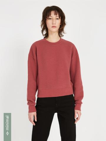 Frank + Oak Textured Organic-cotton-blend Sweatshirt - Roan Rouge