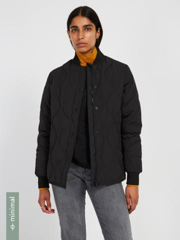 Frank + Oak Skylar Packable Bomber With Recycled Thinsulate In Black