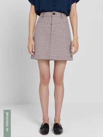 Frank + Oak Good Cotton Houndstooth Mini Skirt In Multi
