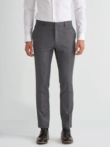 Frank + Oak The Laurier Sharkskin Stretch-wool Suit Trouser In Charcoal