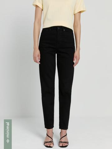 Frank + Oak The Stevie High-waisted Tapered Jean In Black