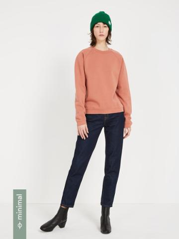 Frank + Oak The Organic Cotton Gym Fleece Crewneck - Brown Pink