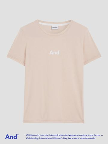 Frank + Oak And Intl. Women's Day Cotton Tee In Peach Whip