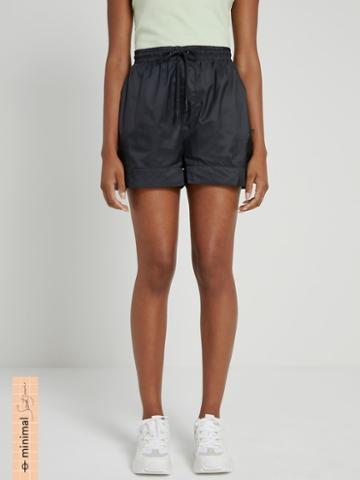 Frank + Oak La Coupe: Baggy High-waisted Short In Black