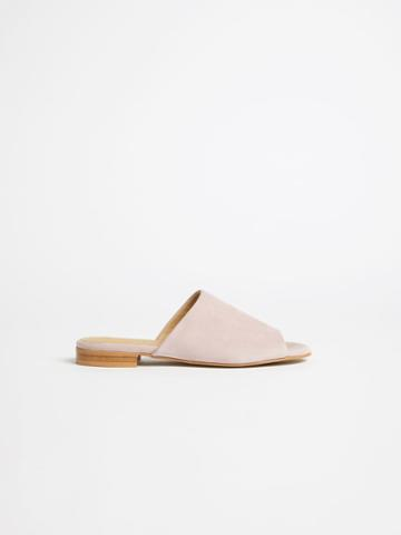 Frank + Oak The Medina Flat Sandal In Pink Lilac