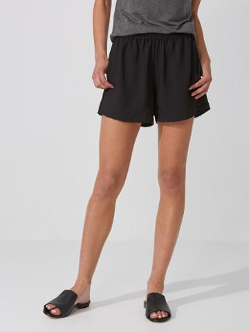 Frank + Oak Fluid Pull-on Shorts In True Black
