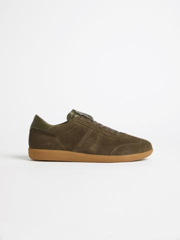 Frank + Oak The Platz German Army Trainer In Olive