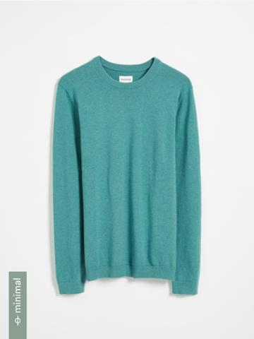 Frank + Oak Organic Recycled Cotton Blend Crewneck Sweater - Green