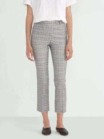 Frank + Oak Organic Cotton-linen Kick Flare Pant In Prince Of Wales