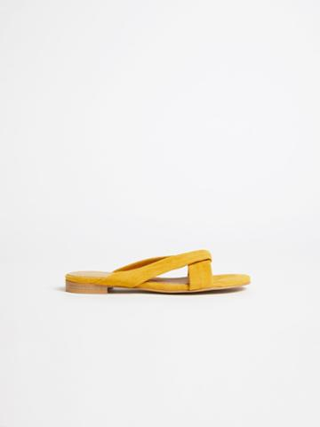Frank + Oak Strappy Flat Sandal In Yellow