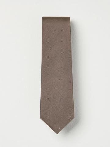 Frank + Oak Grosgrain Silk Tie In Grey