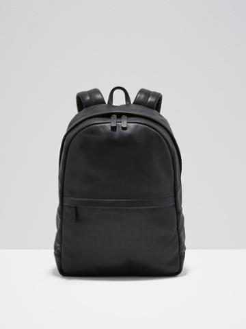 Frank + Oak Leather Backpack In Black
