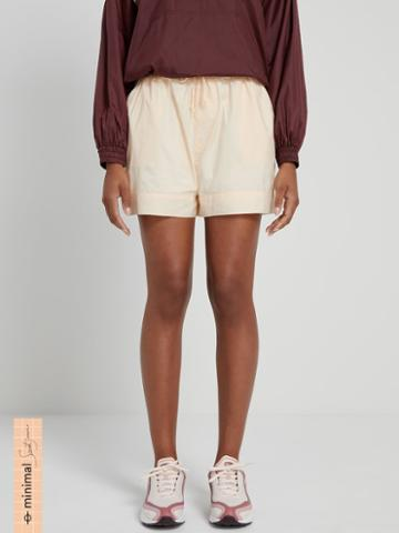 Frank + Oak La Coupe: Baggy High-waisted Short In Peach