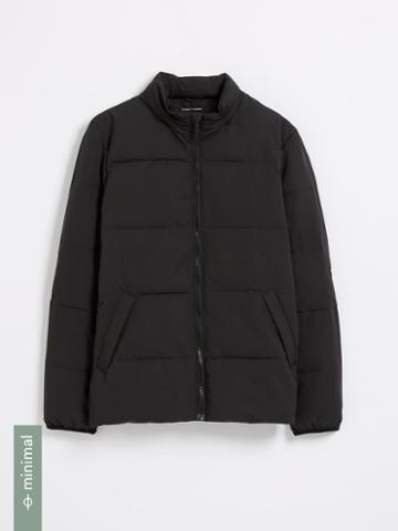 Frank + Oak Cyclone Packable Puffer With Recycled Thinsulate In Black