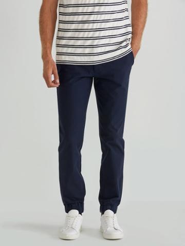 Frank + Oak Woven Cotton Twill Jogger In Navy Blazer