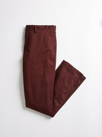 Frank + Oak The Newport Straight Chino - Dark Wine