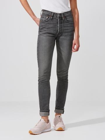 Frank + Oak Levi's 501 Skinny Jean In Washed Black