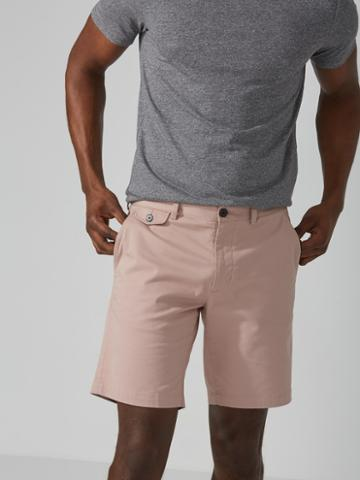 Frank + Oak The Newport Chino Short In Light Pink