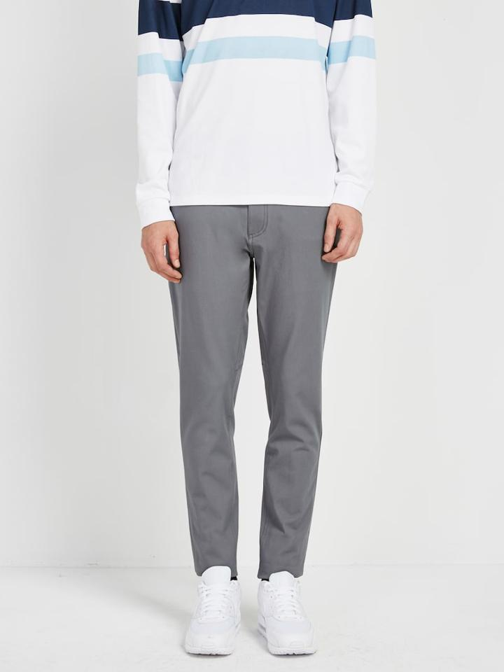 Frank + Oak Pace Commuter Cotton Twill Pant In Iron Gate