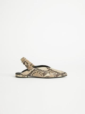 Frank + Oak Pointy Slingback Flat In Humus Brown