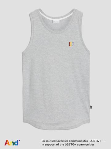 Frank + Oak And Pride Tank In Grey Mix