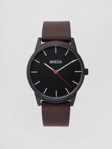 Frank + Oak Breda Watch - Bresson In Black/brown